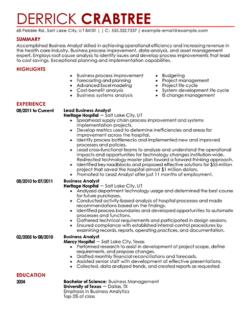 Free Example Of A Resume | Resume CV Cover Letter